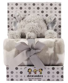 Abracadabra Blanket & Soft Toy Set - Grey