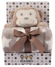 Abracadabra Blanket & Soft Toy Set - Brown