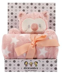 Abracadabra Blanket & Soft Toy Set - Peach
