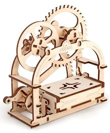 Mechanical Box Educational Wooden Puzzle - 61 Pieces
