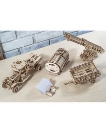 Ugears Wooden Additional Truck Parts 3D Puzzle Cream - 322 Pieces
