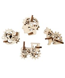 Ugears Wooden Tribike Figures 3D Puzzle Cream - 10 Pieces