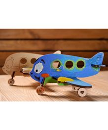 Ugears Wooden Airplane Colouring Puzzle - 15 Pieces