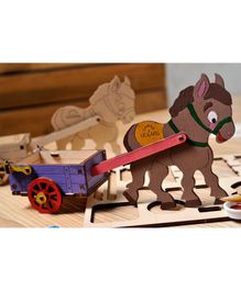 Ugears Donkey 3D Coloring Puzzle - Brown