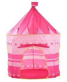 Playhood Printed Castle Tent With Carry Case - Pink