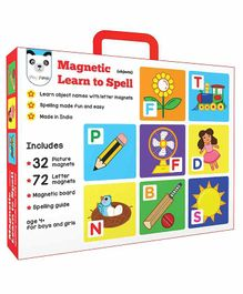 Play Panda Magnetic Learn To Spell Objects With Picture Magnets & Letter Magnets - Multicolor
