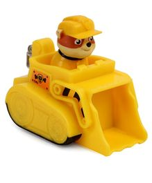 Paw Patrol Rescue Racers With Construction Truck - Yellow Brown
