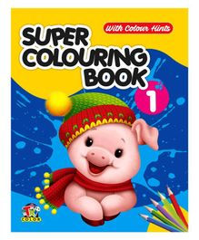 Super Colouring Book 1 With Colour Hints - 48 Pages