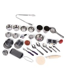 Kinder Creative Steel Kitchen Set - Silver