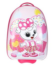 SMJM Doggy Design Trolley Bag Pink - Height 25.1 inches