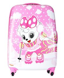 SMJM Doggy Design Trolley Backpack Pink - Height 36.6 inches