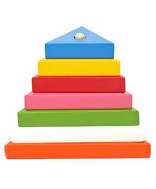Kinder Creative Wooden Triangle Tower In Grading Shapes - Multicolor