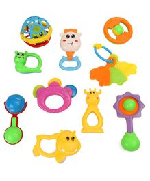 Dr.Toy Baby Rattle Set Pack of 10 - Multi Color