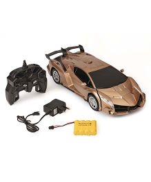 Dr. Toy Remote Control Car Cum Robot - Golden