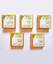 La Flora Organics Handmade Paper Soap Pack of 5 (100 Sheets) - Multicolor