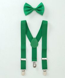 Babyhug Y Shape Suspenders With Bow Tie- Green