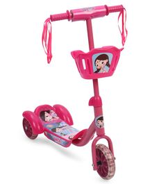 Chhota Bheem Chutki 3 Wheel Scooter With Basket - Pink