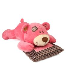 Starwalk Sleeping Teddy Bear Soft Toy With Pillow Pink - Length 42 cm