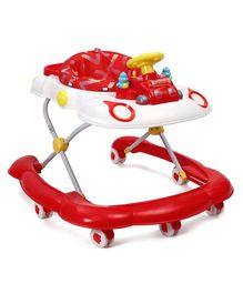 Musical Baby Walker With Play Tray - Red