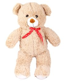Skylofts Teddy Bear With Bowtie Soft Toy Beige - 42 cm