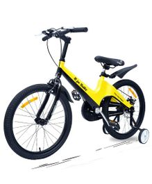 R for Rabbit Tiny Toes Rapid Smart Plug & Play Bicycle Yellow Black - 20 inches