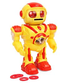 Mitashi Skykidz Robot Musical Toy Yellow Red - Height 25 cm