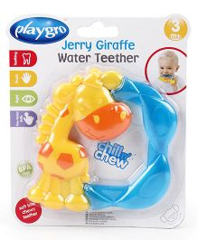 Playgro Giraffe Shaped Water Teether - Blue Yellow