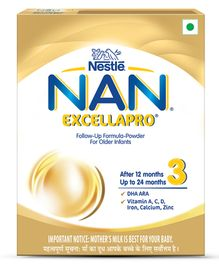 Nestle Nan Excellapro 3 Follow-Up Formula Powder - 400 g