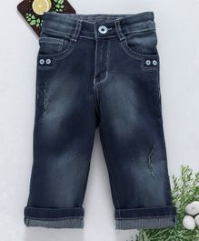 Chicklets Full Length Front Pockets Bottoms - Dark Blue