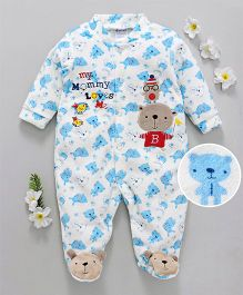 56c9cceedb08 Kookie Kids Bear Print Full Sleeves Romper - White