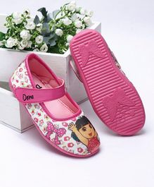 Dora Belly Shoes With Velcro Closure - Pink White