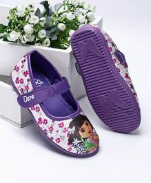 Dora Belly Shoes With Velcro Closure - Purple White
