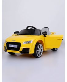 Marktech Battery Operated Audi TT RS Plus Ride On Car With Remote Control - Yellow