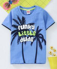 Babyhug Half Sleeves T-Shirt Graphic Print - Blue