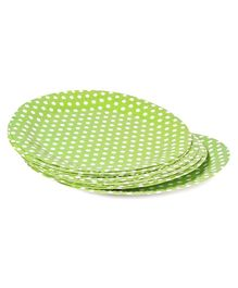 B Vishal Polka Dot Paper Plates Pack of 10 - Green