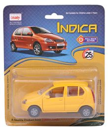 Centy Pull Back Action Indica Toy Car - Yellow