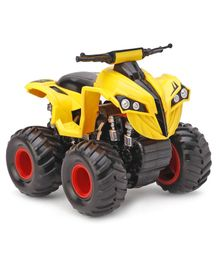 Imagician Playthings Big Wheel Friction ATV Stunt Zombie Bike With Suspension  - Yellow