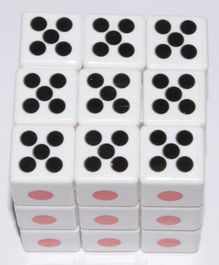 Vibgyor Vibes Stickerless Dice Pattern Rubik Cube - White