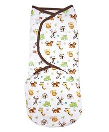Summer Infant Original Swaddle Graphic Jungle - White Brown