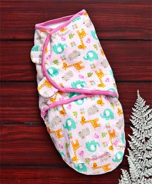 Summer Infant Interlock Swaddle Giraffe Print - White