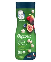 Gerber Organic Fig berry Puffs - 47 gm