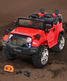 Babyhug Battery Operated Ride On Jeep With Foot Accelerator & Parental Remote Control - Red
