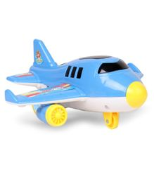 Airplane Friction Toy With Light & Music - Blue