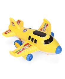 Airplane Friction Toy With Light & Music - Yellow