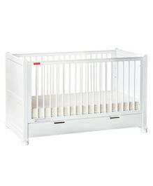 Fisher Price Georgia Wooden Crib Cum Toddler Bed - White