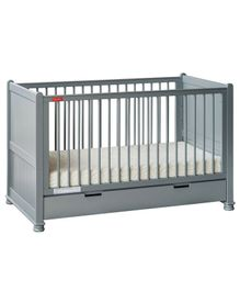 Fisher Price Georgia Wooden Crib Cum Toddler Bed - Grey