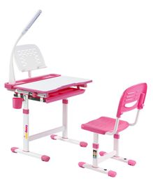 Alex Daisy Pluto Kids Height Adjustable Study Table & Chair With Lamp - Pink