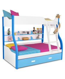 Alex Daisy Wooden Columbia Bunk With Trundle Bed - Blue