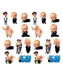d4397b23 Party Propz Boss Baby Theme Card Stock Cut Out Multicolour - Pack Of 20