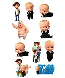 Party Propz Boss Baby Theme Card Stock Cut Out Multicolour - Pack Of 10